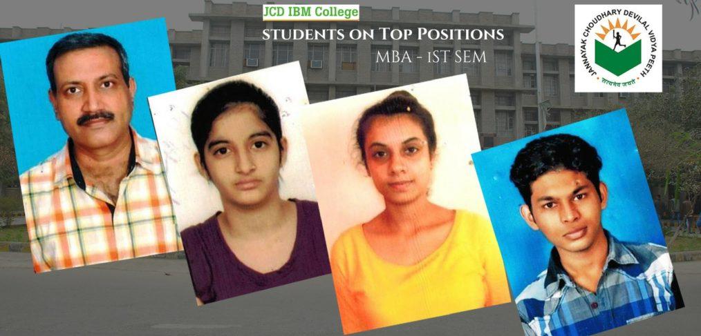 Topper Students -JCD IBM College