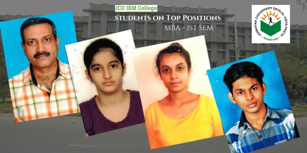 Topper Students -JCD IBM College