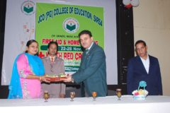 Valedictory Function of First Aid & Home Nursing Training – 29/11/2017