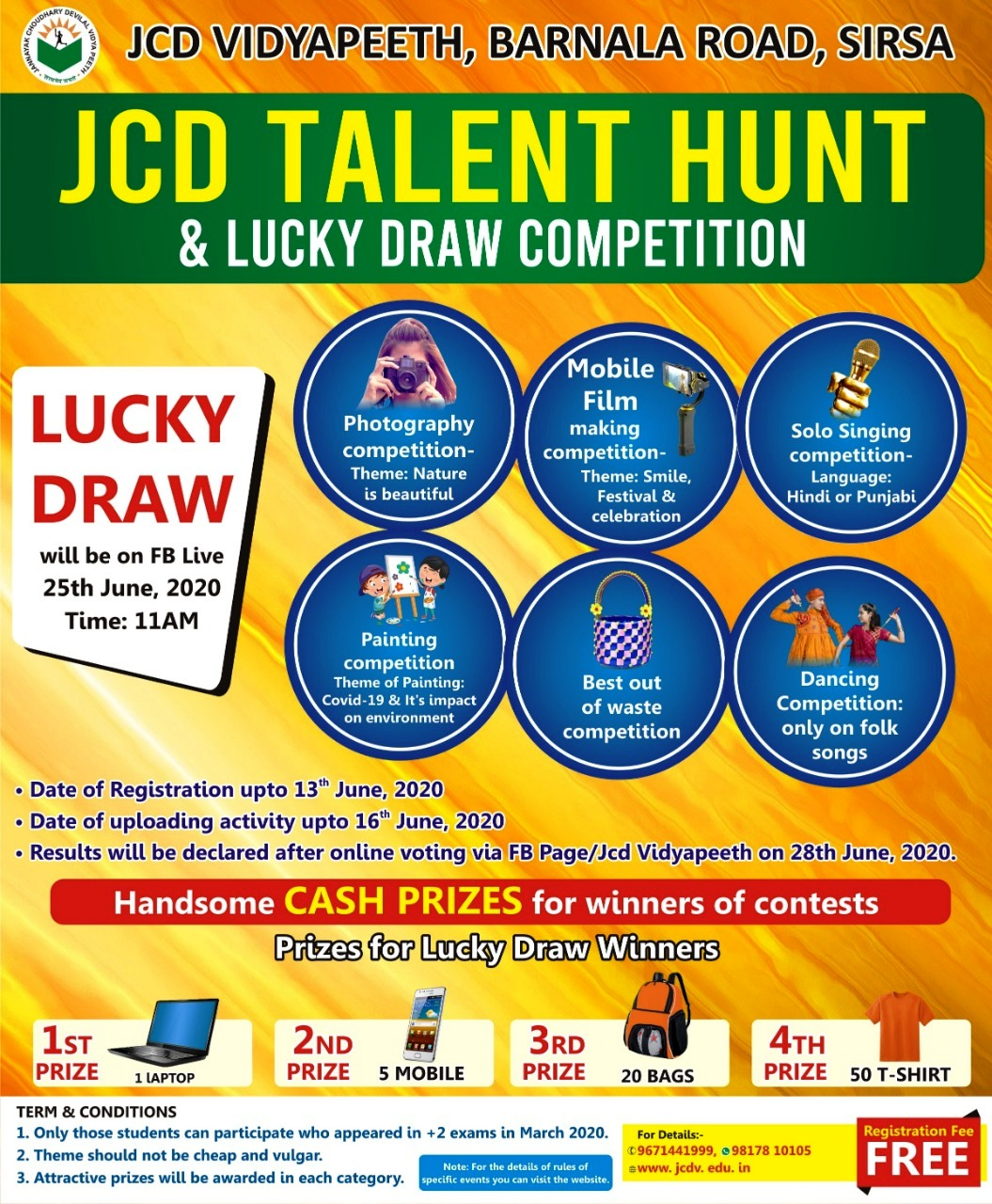JCDV Talent Hunt and lucky draw competition (1)