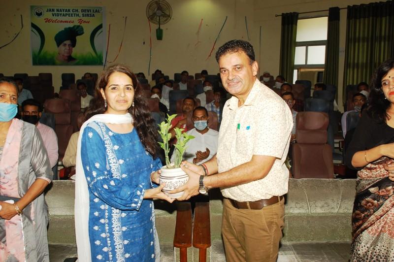 Sangeta Nehra in JCDV sirsa